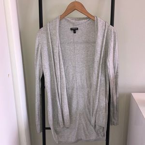 Express Soft Gray Lightweight Cardigan
